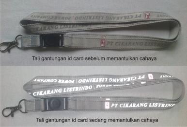gantungan id card cetak reflektif